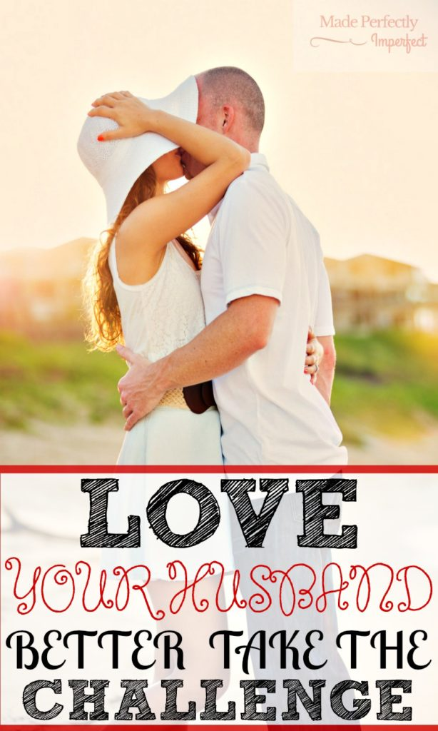Love your husband better! A seven day challenge that will start improving your marriage right now! Wow! I am so glad I came across this challenge. I can already see the changes taking place!