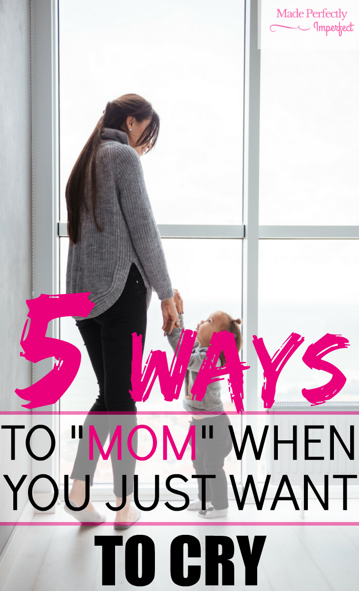 "5 Way's to mom when you just want to cry. Life can throw us a curve ball and when it comes to motherhood, there is no time to stop. When you experience an emotional bump in the road, use these 5 tips to help you ""MOM"". So glad I came across this article! In such a crucial time too!"