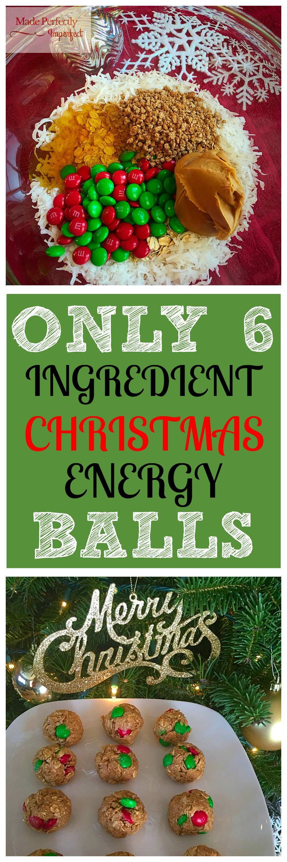 Only 6 Ingredient Christmas Energy Balls So good! Especially when you're trying to eat healthy during the holidays.